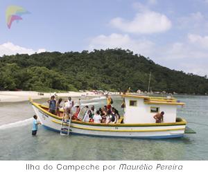 Chegada à Ilha do Campeche