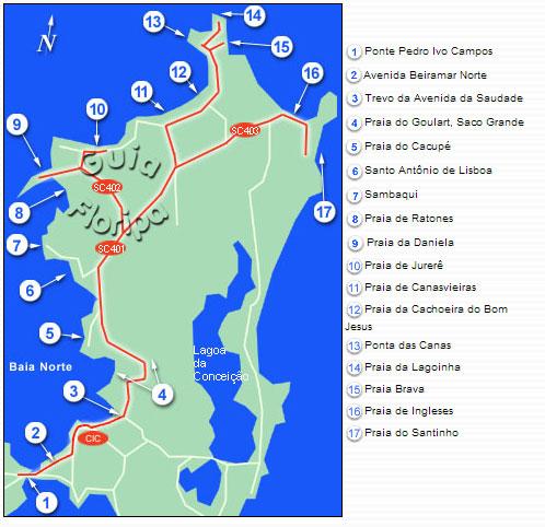 Roteiro Norte da Ilha de Santa Catarina